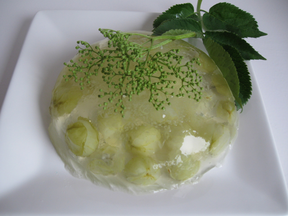 Gooseberry elderflower jelly