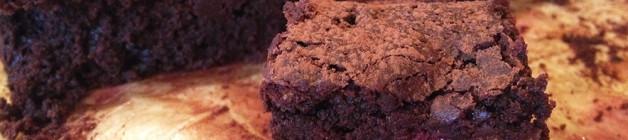 Raspberry dark chocolate brownies