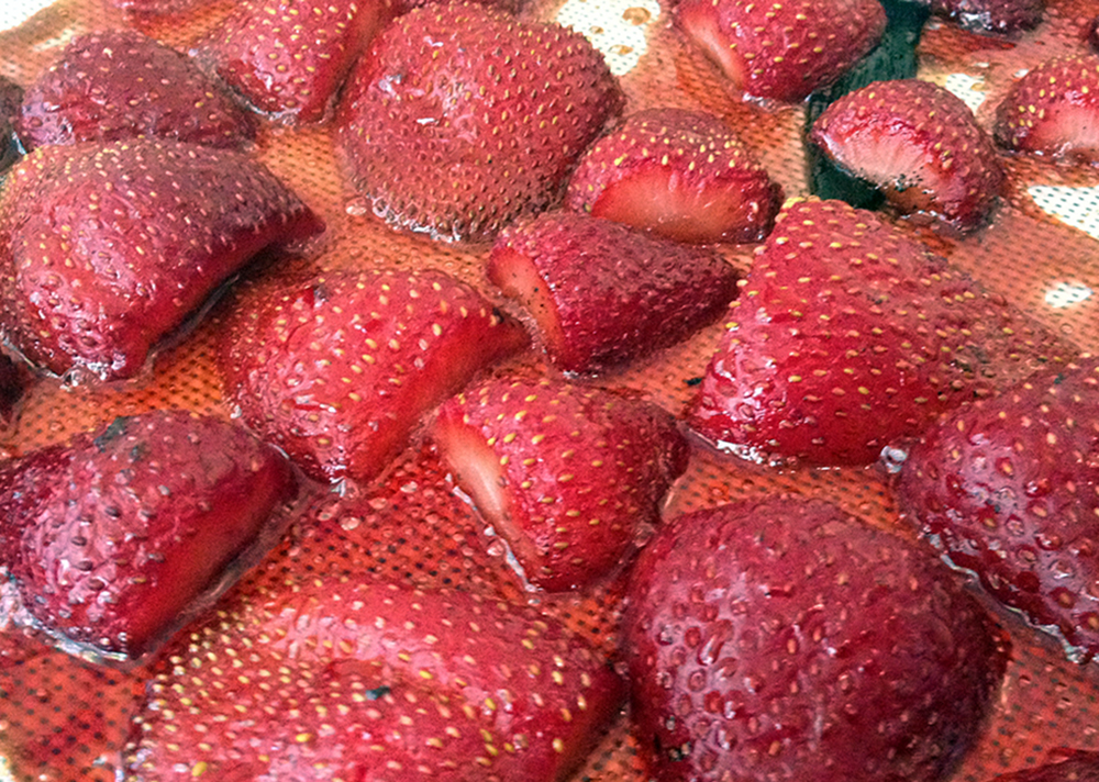 Vanilla roasted strawberries