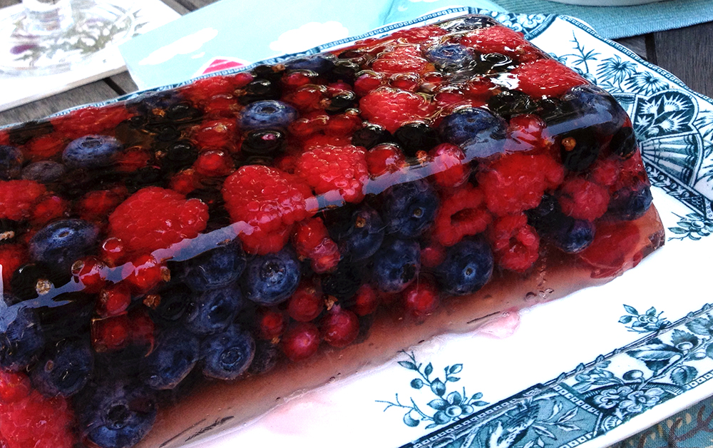 This summer fruit terrine looks as good as it tastes. It's a great ...