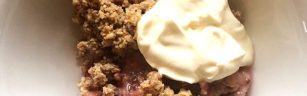 Gooseberry almond oat crumble-ft