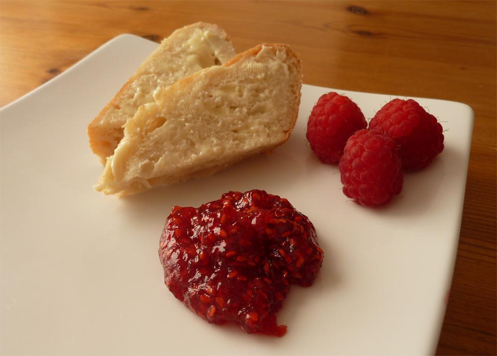 Homemade raspberry jam