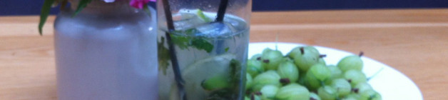 Gooseberry mint mojito