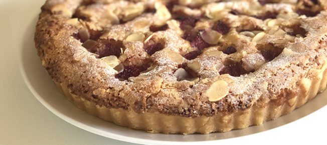 Strawberry bakewell tart recipe